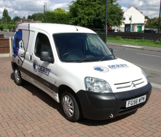 Derby Same Day Couriers Van
